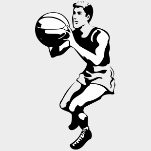 Soccer Ball Clipart Black And White - Basketball Player