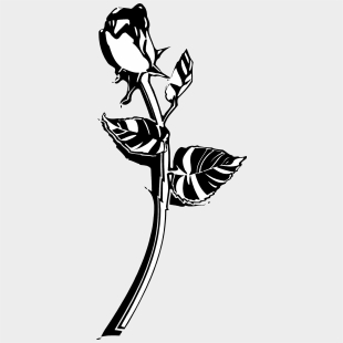 Long Stem Rose Clip Art