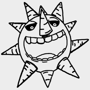 Org/sun/sun In His - Drawing Sketch Of Sun , Transparent Cartoon