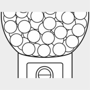 Bubble Gum Machine Coloring Page Png & Free Bubble Gum Machine ... | 310x310