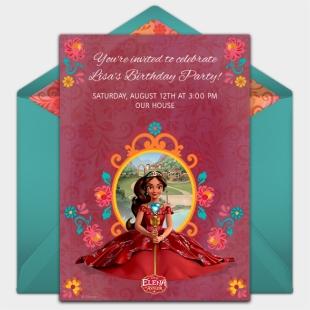 Weihnachtsgrüße Disney.Free Elena Of Avalor Invitations Pinterest Princess Christmas Card