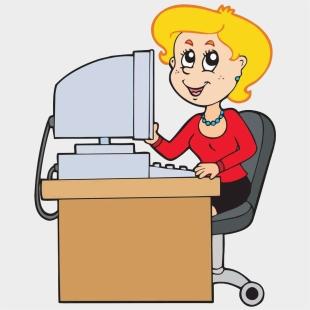 Bürotisch clipart  Lotte Am Schreibtisch - Secretary Stickman , Transparent Cartoon ...
