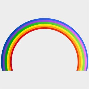 Barcode rainbow. Transparent