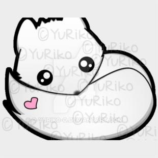 Kawaii Arctic Fox By O Yuriko Drawing Easy Cute Arctic Fox