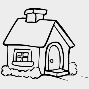 White House Coloring Page Line Art Cliparts Cartoons Jing Fm