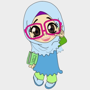 101 Gambar Gambar Kartun Muslimah Lucu Kekinian