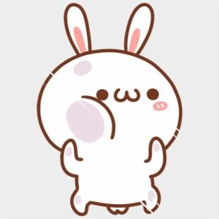Kawaii Cute Bunny White Rabbit Cartoon Chibi Chibi Cute
