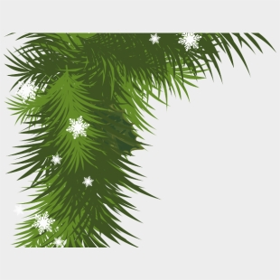 Garland Cliparts Christmas Garland Border Transparent