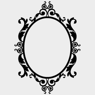 Cadre Baroque Ovale Png Vintage Oval Frame Clipart