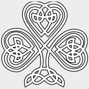 Celtic Knot Navy Clip Art - Simple Celtic Knot Border