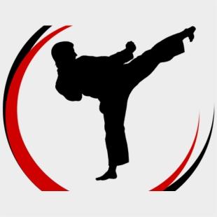 Mixed Martial Arts Clipart Taekwondo Flying Kicks Watercolor Karate Cliparts Cartoons Jing Fm