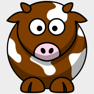 Cow brown. Patch clip art cute