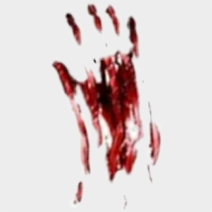 Blood Bloody Handprint Halloween Scary Creepy - Illustration