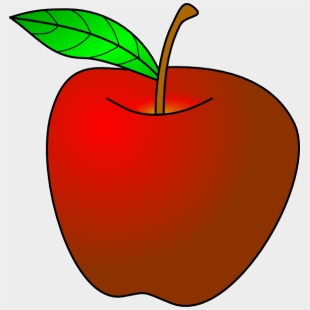 Apple small. Stem clipart healthy snack