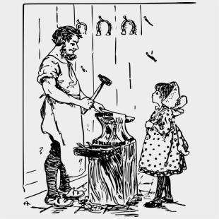 Blacksmith Anvil Drawing Computer Icons Daughter - Clip Art
