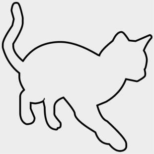 Cat Outline Clipart Cliparts Cartoons For Free Download Jing Fm