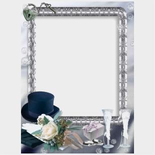 Wedding Frames For Photoshop , Transparent Cartoon - Jing fm
