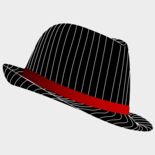 Top Hat Clipart Fedora Hat - Silhouette , Transparent Cartoon - Jing fm