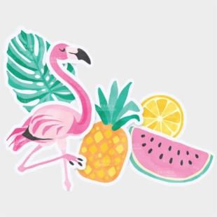 Flamingo Summer Clipart, Cliparts & Cartoons - Jing.fm