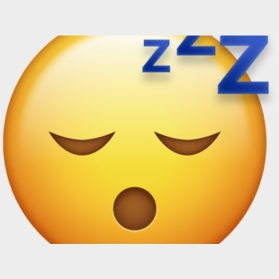 Sleeping Clipart Sleep Emoji - Clip Art Emoji Sleepy , Transparent