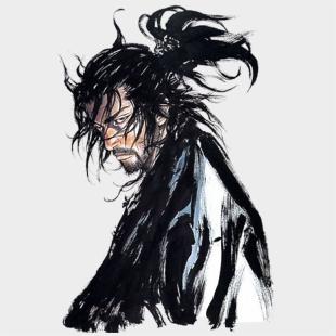 Drawn Samurai Samurai Hair Miyamoto Musashi Takehiko Inoue Cliparts Cartoons Jing Fm