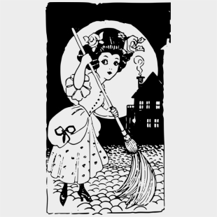 Witchcraft Cleaning Broom Housekeeping - Witch Cleaning House