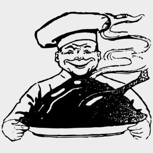 Gambar Chef Hitam Putih Png Cliparts Cartoons Jing Fm