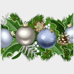 Holly Garland Png Christmas Decorative Border Transparent