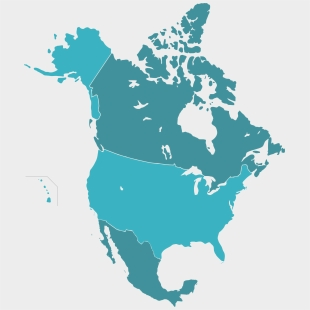 Map Of America Clipart.Usa Clipart North America Map Of Canada Us And Mexico