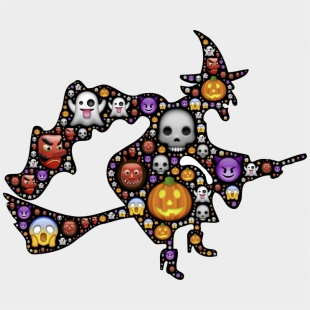 Halloween Cartoon Witch Face.Halloween Witch Face Clipart Clip Art For October Transparent