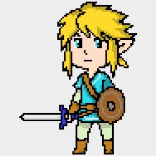 Art Maker - Pixel Art Zelda Breath Of The Wild , Transparent Cartoon