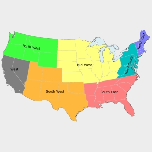 United States Region Map - Us Map Regions Labeled, Cliparts ...